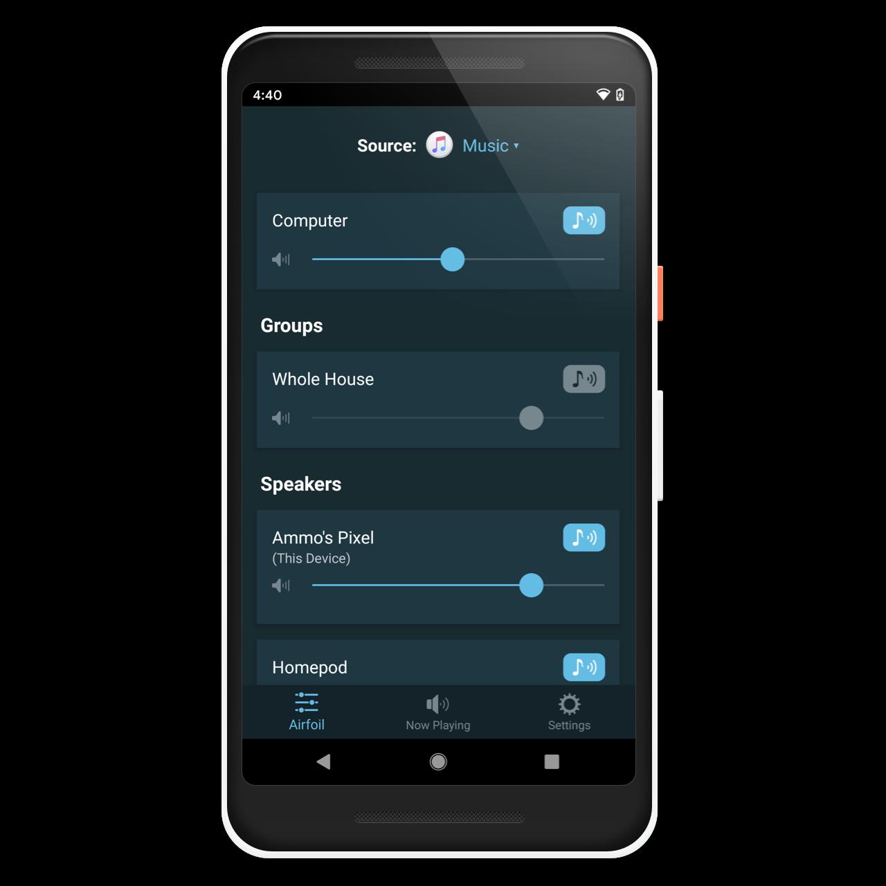 Rogue Amoeba | Airfoil Satellite: Stream audio to your