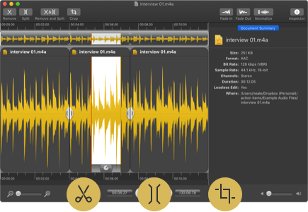 Rogue Amoeba | Fission: Fast & Lossless Audio Editing
